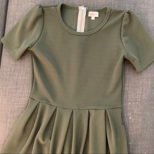 Army Green Lularoe Amelia Dress